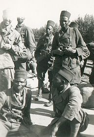 Dad with Algerian troops