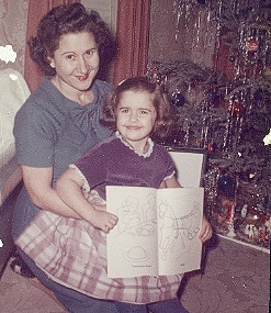 Mom and I, Christmas 1961