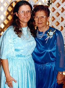 Mom and I, on my wedding day