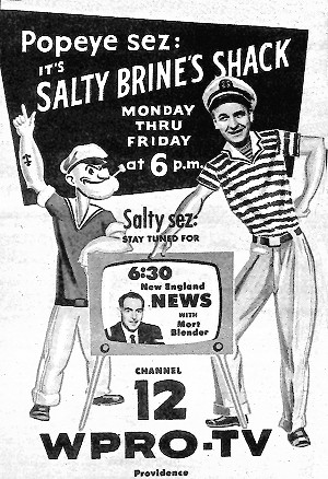 Salty's Shack ad